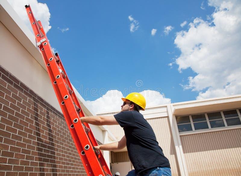 Worker Climbing Up royalty free stock photos