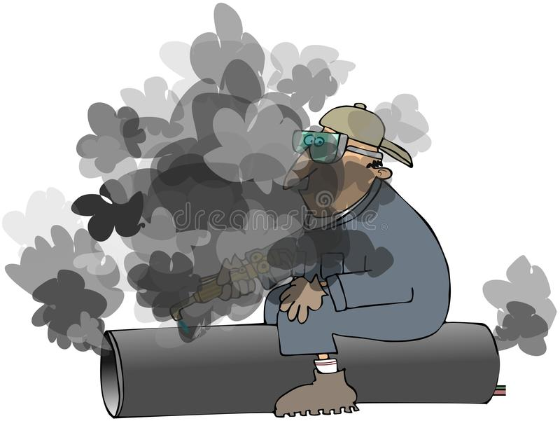 Download Worker Cutting Pipe Royalty Free Stock Photo - Image: 15440575