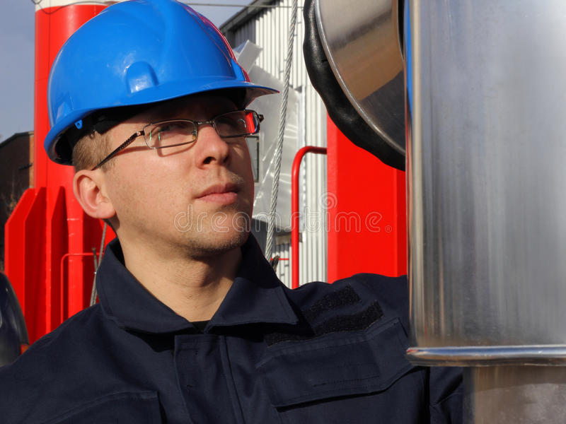 Worker in a Factory stock photo