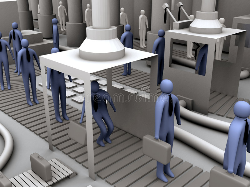 Worker factory #2 stock illustration