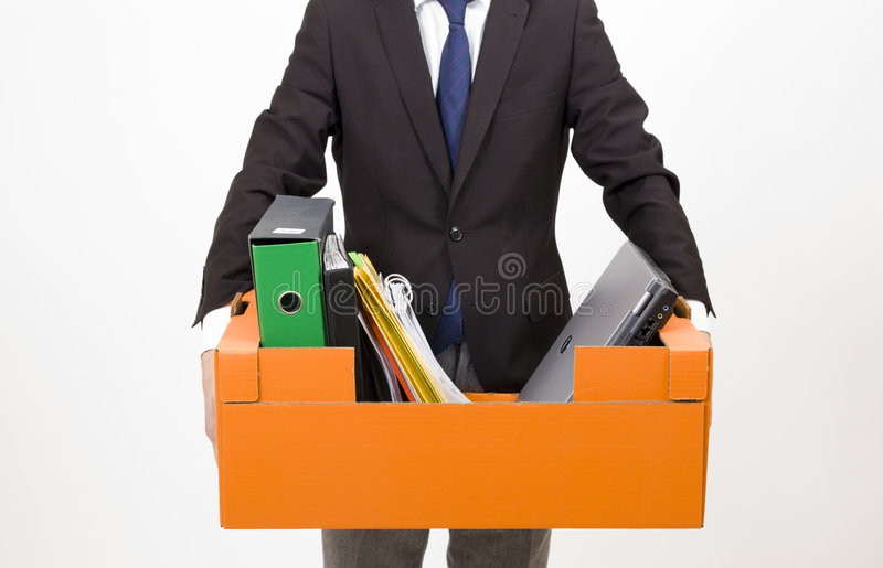 Worker fired royalty free stock photos