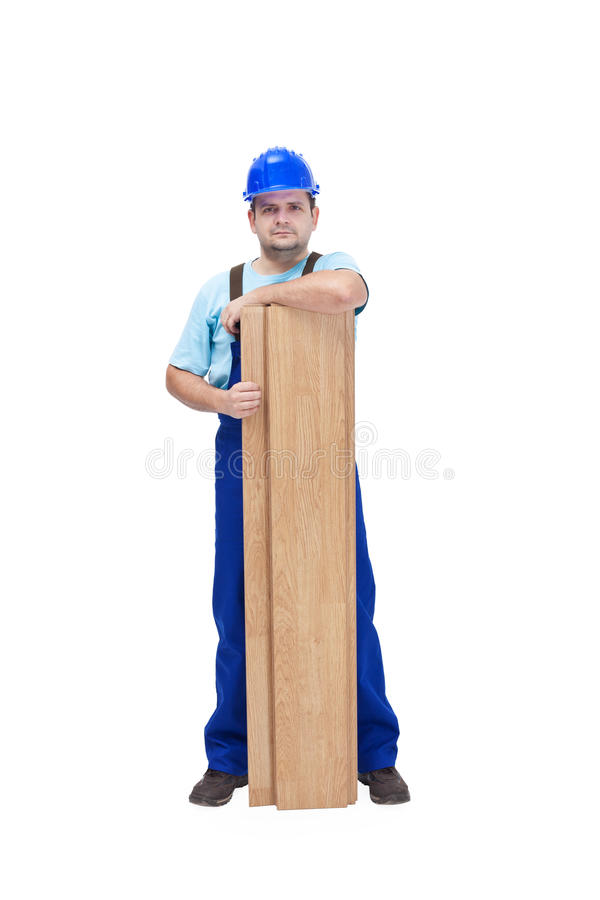 Download Worker With Flooring Planks Stock Image - Image: 23234761