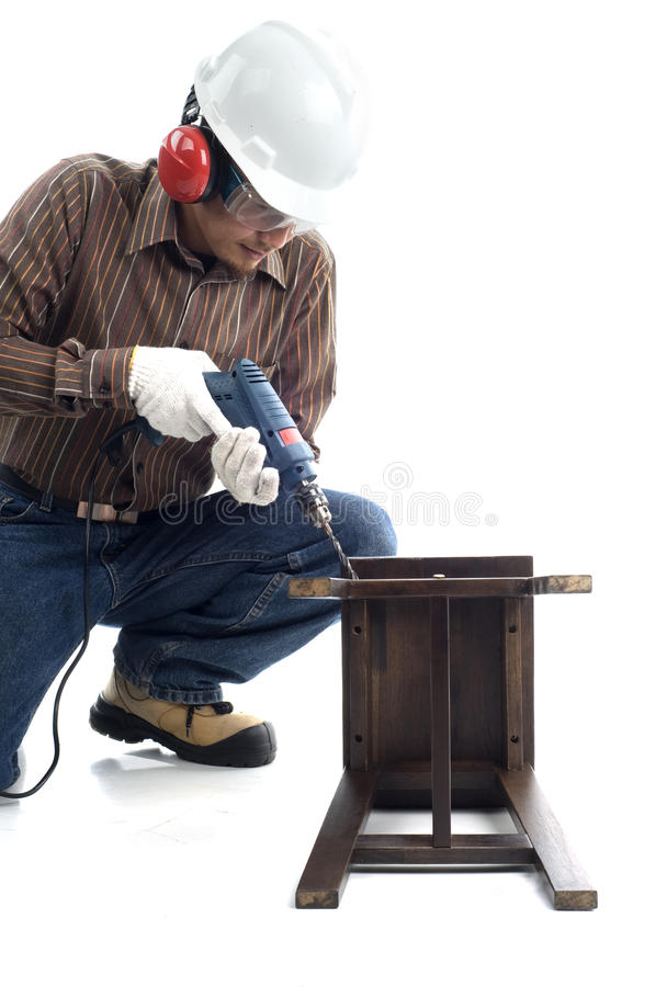 Download Worker focus drilling stock image. Image of health, healthy - 19825591