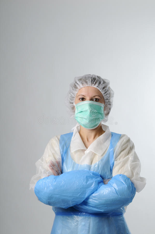 Worker in food industry. Portrait of woman, worker in food industry royalty free stock images
