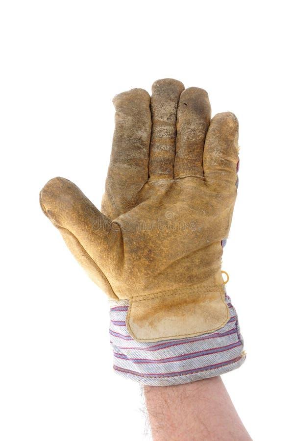 Worker Giving Stop Gesture or Waving
