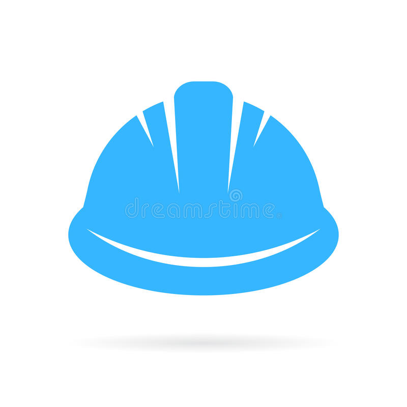 Worker hard hat vector icon stock illustration