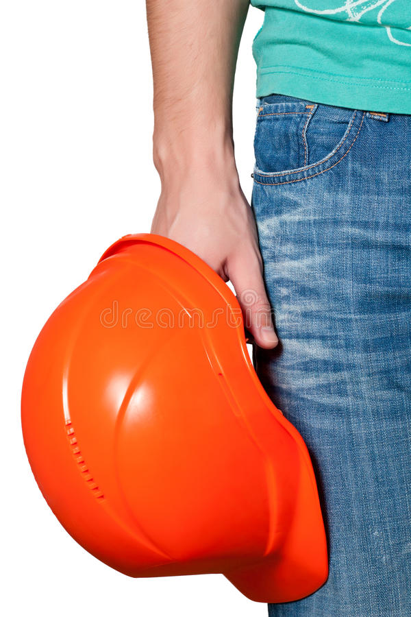 Download Worker  holding a hard hat stock photo. Image of hard - 22866656