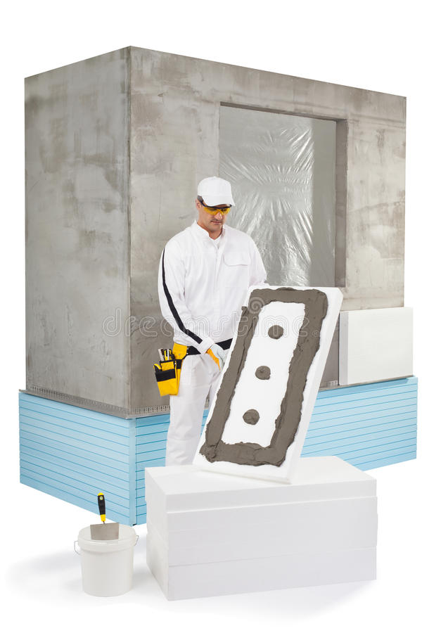 Download Worker Holding An Insulation Panel Coated With A Lute Stock Image - Image of builder, fiber: 33942961