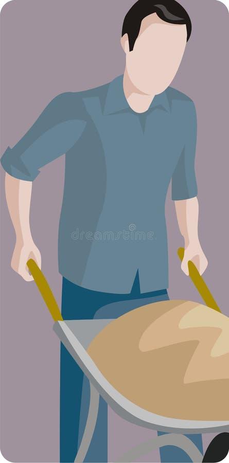 Worker illustration series royalty free illustration