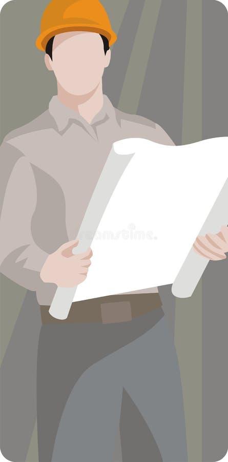 Worker illustration series stock illustration