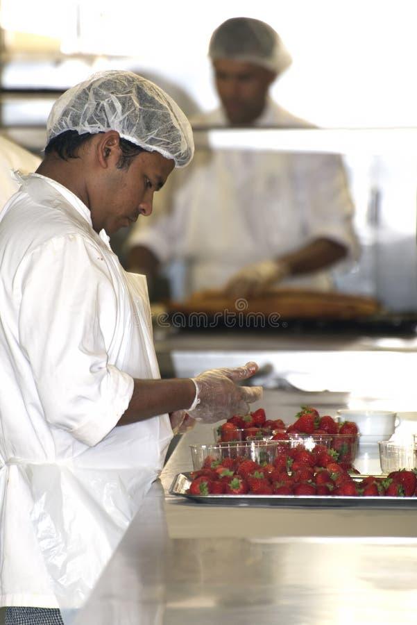 Free Worker In Restaurant Kitchen Stock Images - 44957814