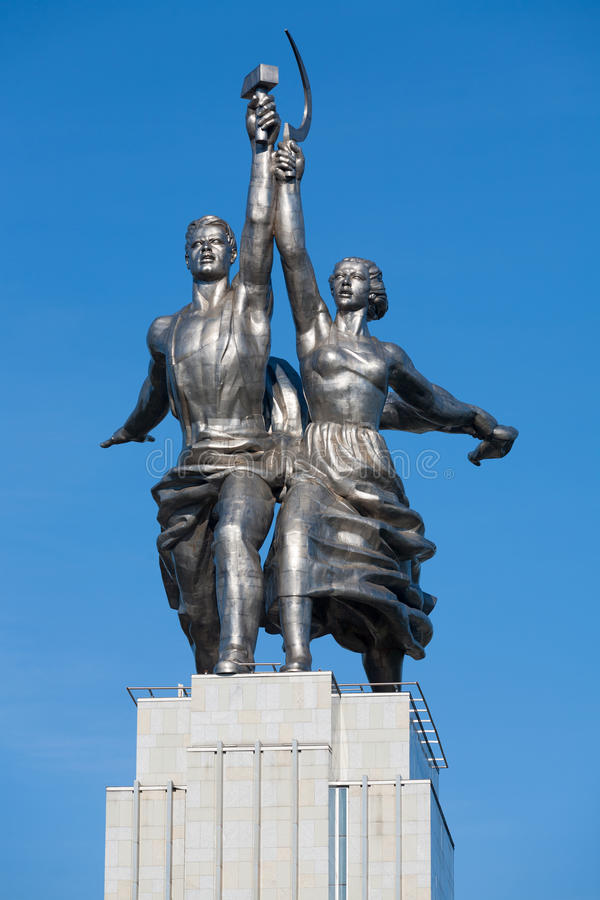 Worker and Kolkhoz Woman sculpture stock photos