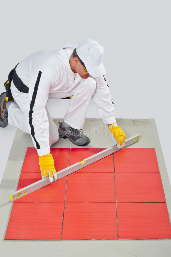 Download Worker Levels Tiles Measure Stock Photo - Image: 25671548