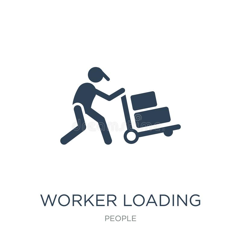 worker loading icon in trendy design style. worker loading icon isolated on white background. worker loading vector icon simple vector illustration