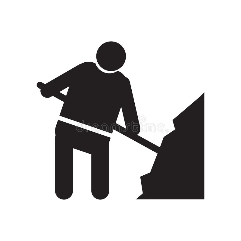 Worker loading icon vector sign and symbol isolated on white background, Worker loading logo concept. Worker loading icon vector isolated on white background for royalty free illustration