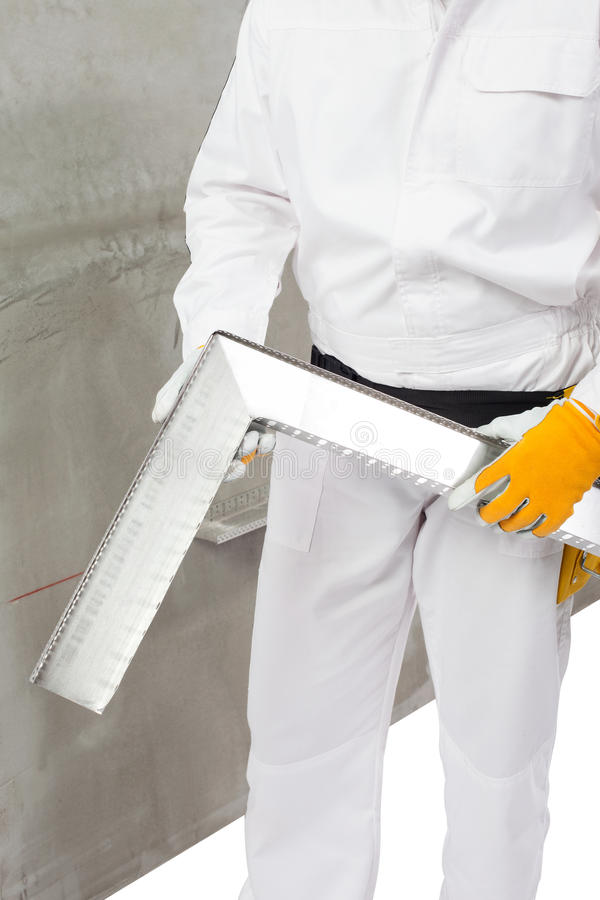 Download Worker Making An Angle With A Lath Stock Photo - Image: 33367328