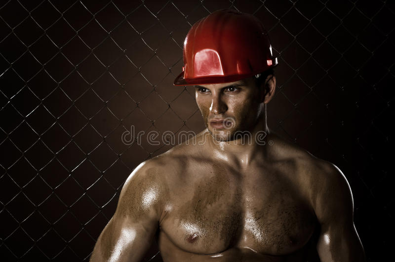 Worker man stock images