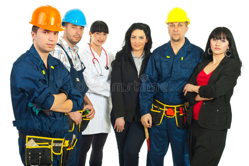 Download Worker Man And Different Careers Team Stock Image - Image of people, builders: 18846305