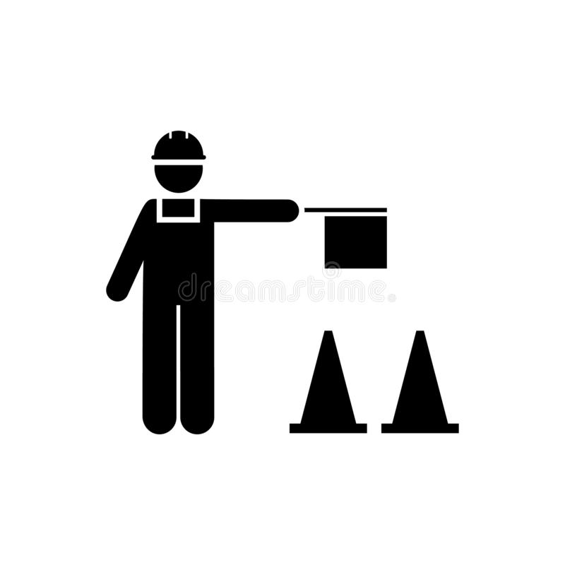 Worker, man, person, job icon. Element of manufacturing icon. Premium quality graphic design icon. Signs and symbols collection royalty free illustration