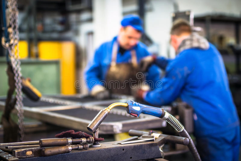 Worker in metal industry. Worker in the metal industry stock photos