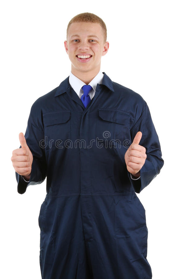 Download Worker in overalls stock photo. Image of safety, sign - 23957434