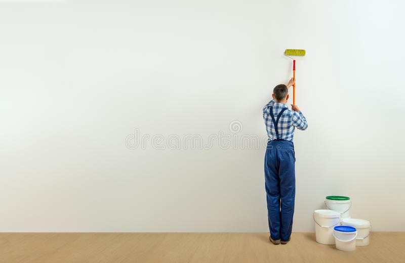 Worker - painter royalty free stock images