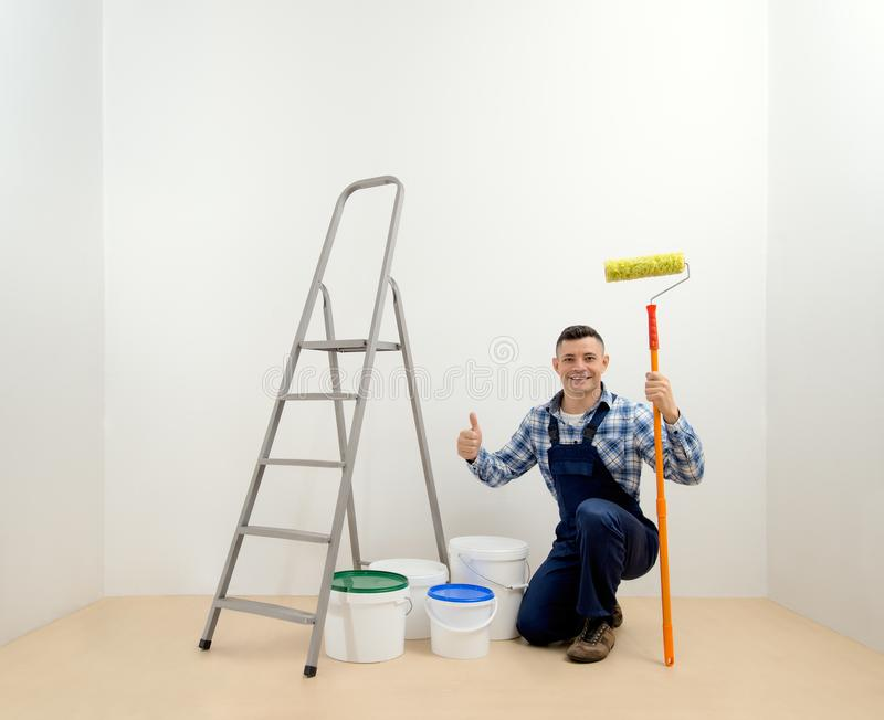 Worker - painter royalty free stock photo