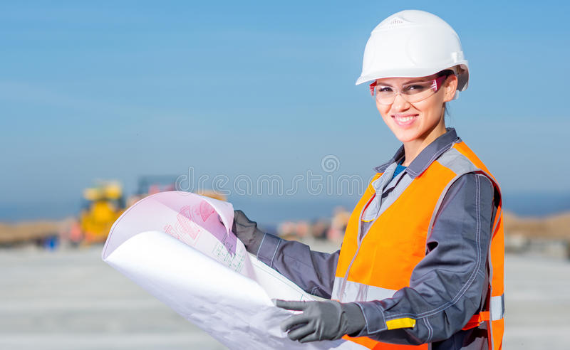 Worker plan engineer stock photography