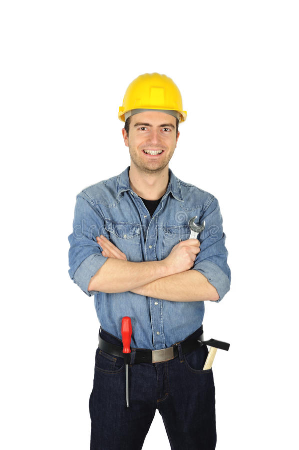 Worker Portait Royalty Free Stock Photos