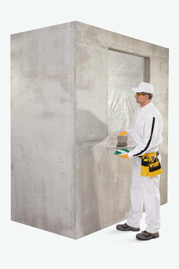 Download Worker Preparing A Putty Royalty Free Stock Photo - Image: 33942395