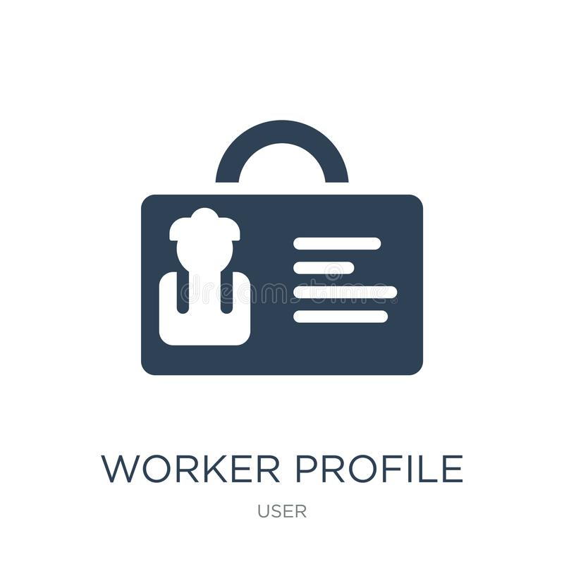worker profile icon in trendy design style. worker profile icon isolated on white background. worker profile vector icon simple vector illustration