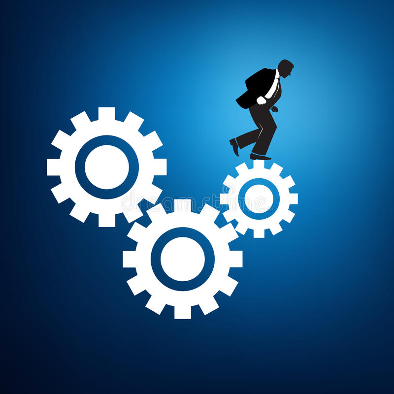 Worker in the rat race graphic vector illustration