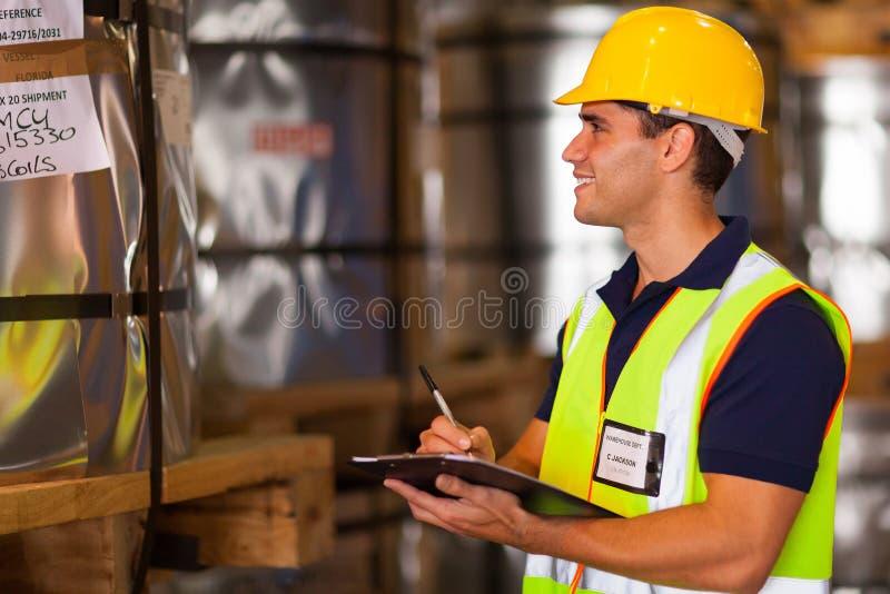 Download Worker recording steel stock photo. Image of handsome - 31709494