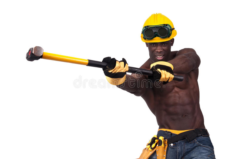 Worker's power royalty free stock photo