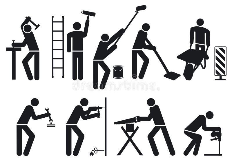 Download Worker set stock vector. Illustration of craftsmen, items - 25804039