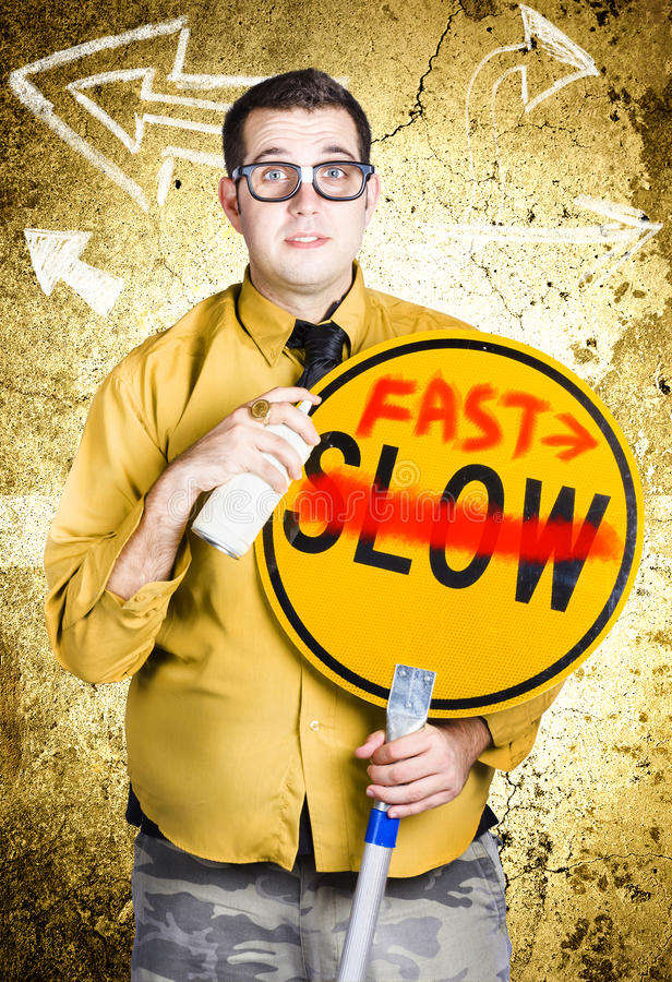 Download Worker Showing Sign To Fast Track Productivity Stock Image - Image of quicker, crossed: 31333773