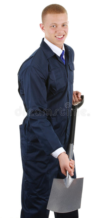 Worker With A Spade Royalty Free Stock Photography
