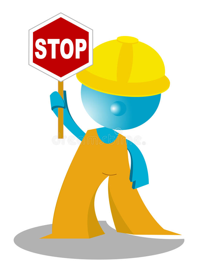Download Worker at a stop pose stock illustration. Illustration of sorry - 14822519