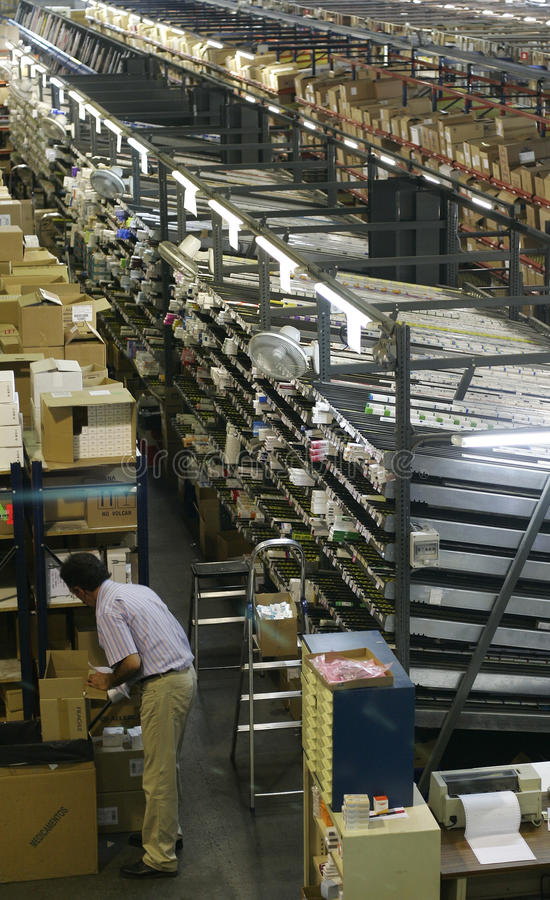 Worker at store warehouse royalty free stock photos