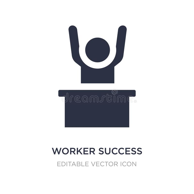 worker success icon on white background. Simple element illustration from People concept vector illustration