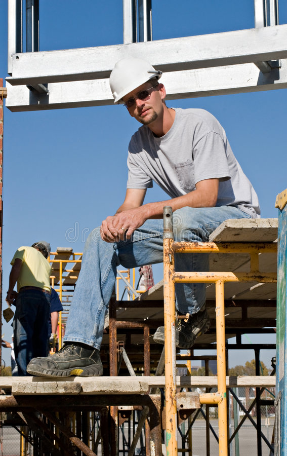 Worker Taking A Break royalty free stock photo