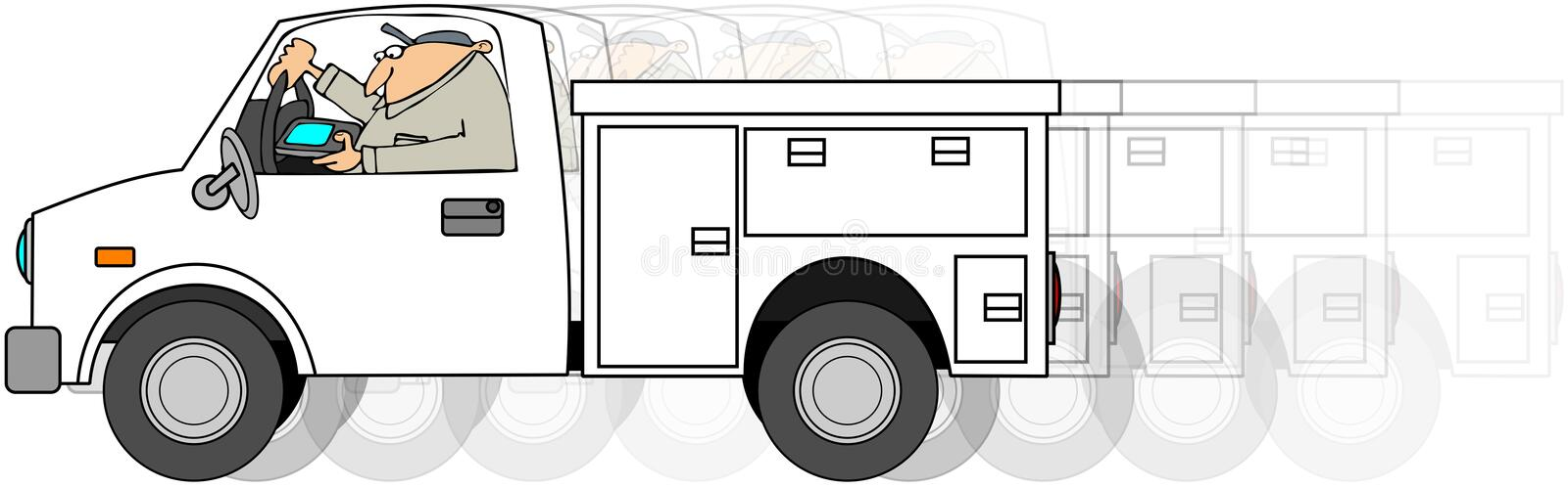 Worker Text and Drive vector illustration