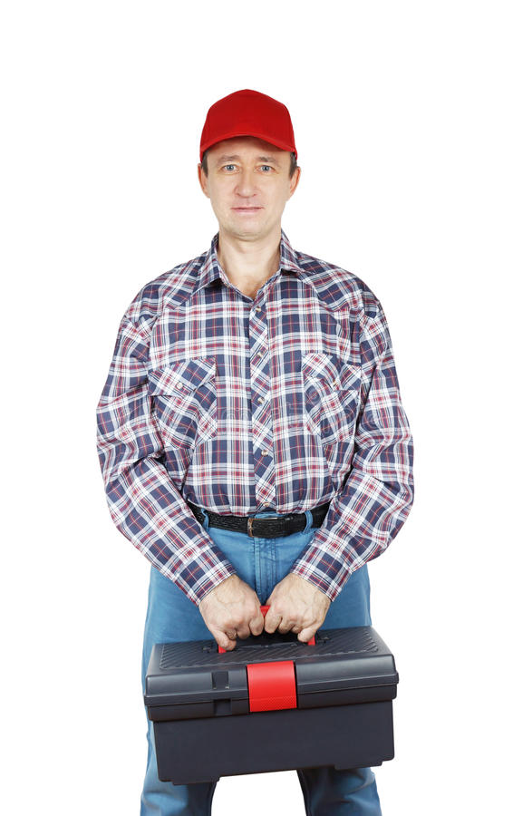 Download Worker With Toolbox Royalty Free Stock Images - Image: 36089289