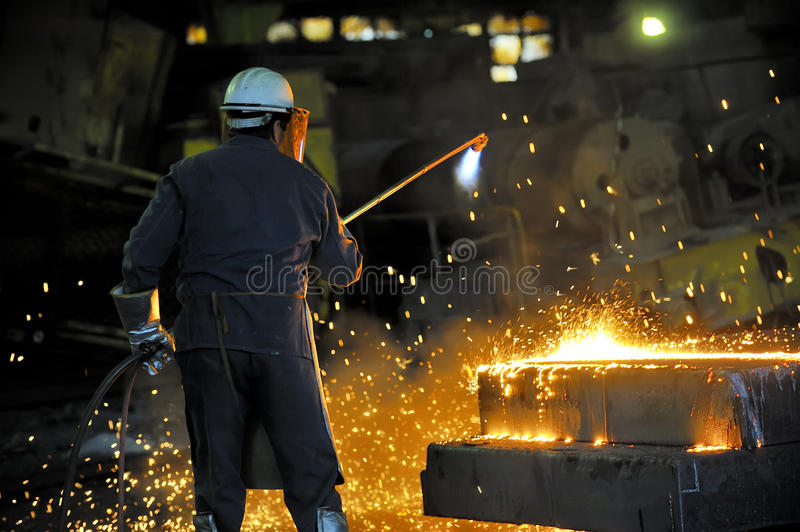 Download Worker using torch cutter stock photo. Image of tools - 24725126