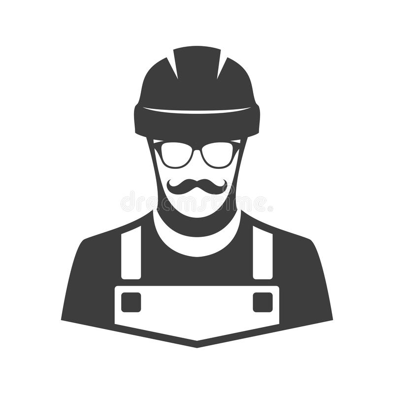 Worker vector icon. stock illustration