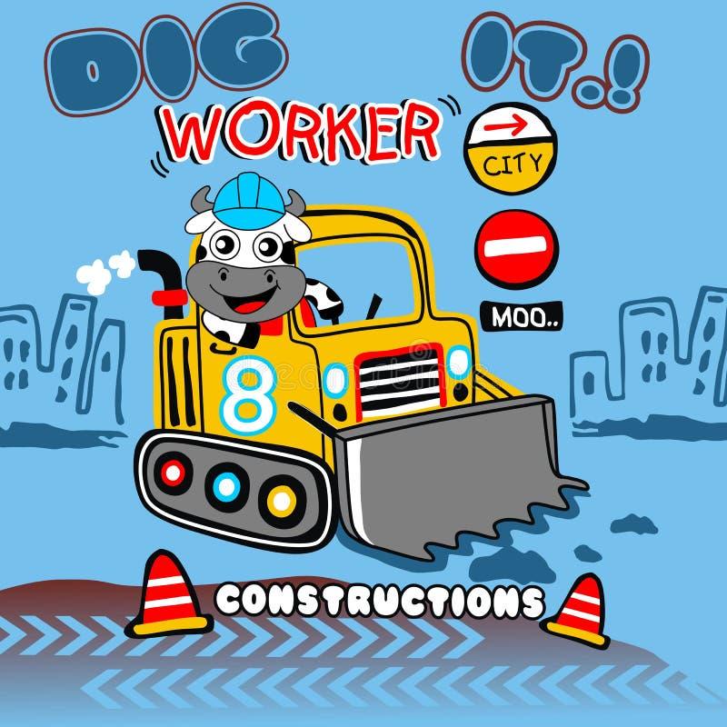 Worker stock illustration