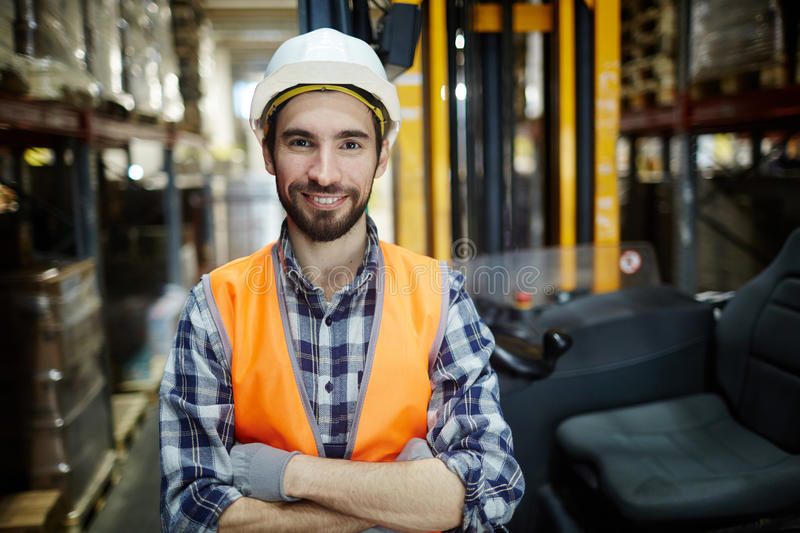 Worker of warehouse stock photos