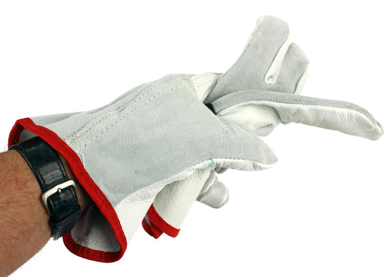 Download Worker Wearing Leather Work Glove Stock Photo - Image: 30687512