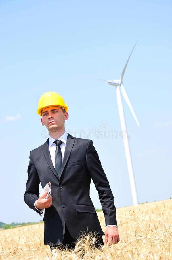 Download Worker On Wind Farm Royalty Free Stock Photos - Image: 25801508