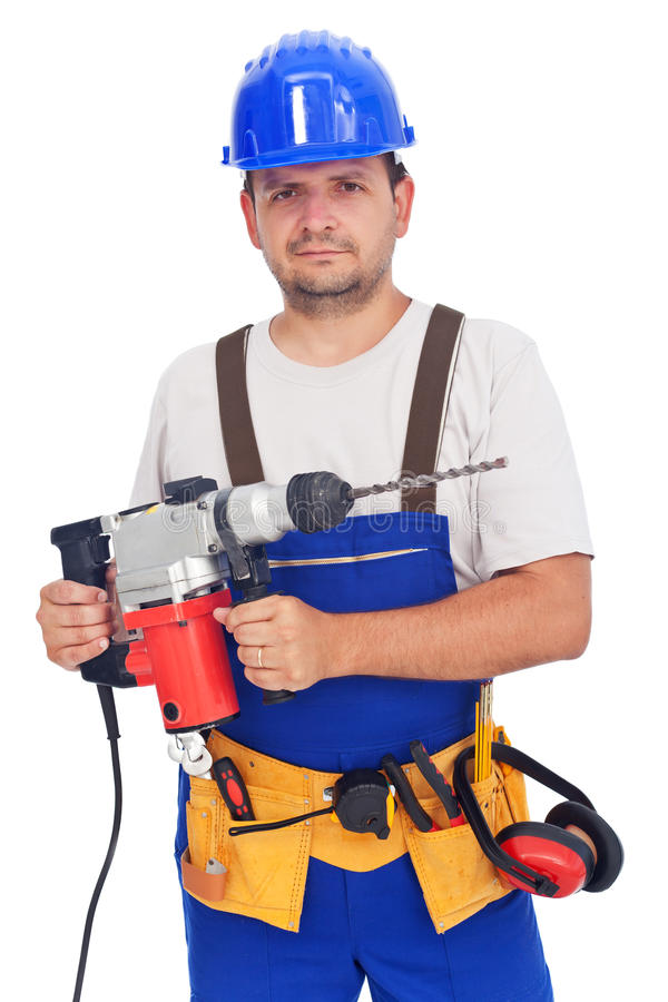 Free Worker With Power Tool Royalty Free Stock Photography - 22332547